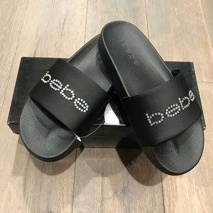 BeBe black slides